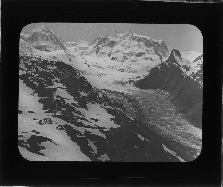 Paysage de montagne : glacier du Gorner, ou Gornergletscher