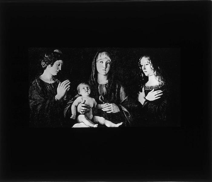 Tableau : Vierge à l'Enfant entre sainte Catherine et sainte Madeleine