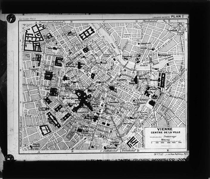 Plan de Vienne, centre ville