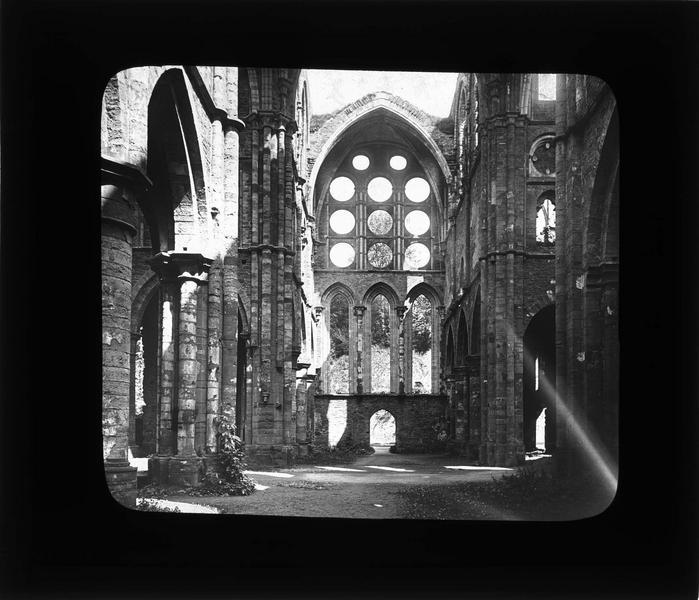 Eglise abbatiale, intérieur : transept nord en ruines