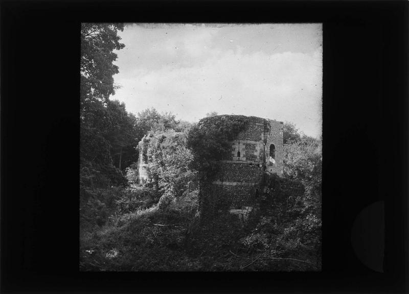 Douves et fortifications de la basse-cour en ruines