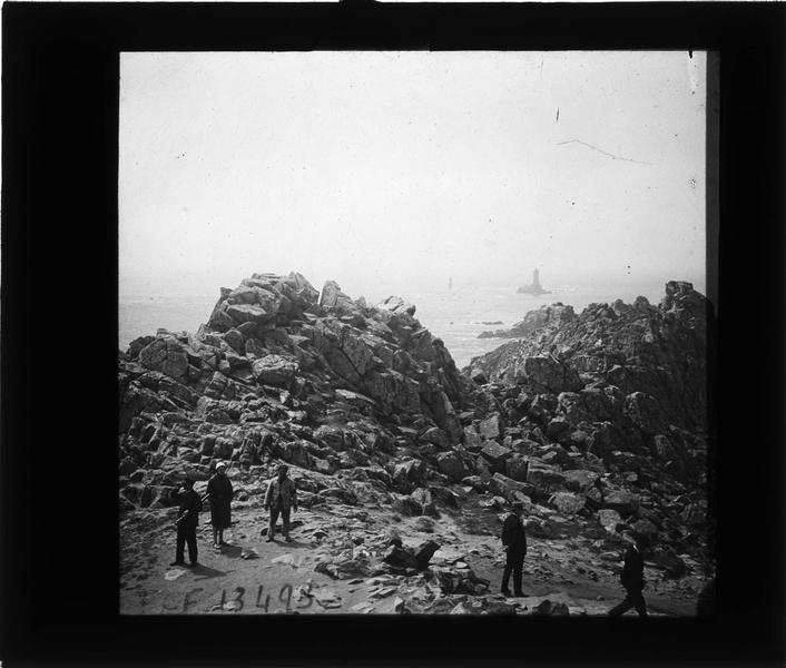 Pointe du Raz, entrée de l'enfer de Plogoff, vue animée
