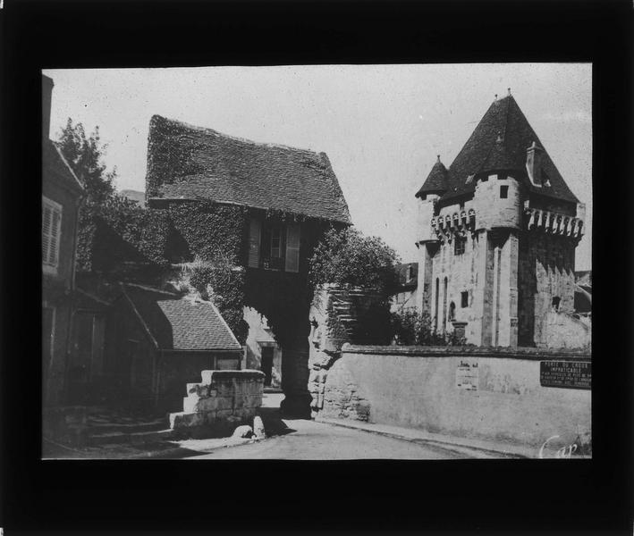 Avant-porte et porte de ville, côté sud-ouest
