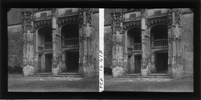 Aile de Longueville, loggias de l'escalier d'honneur sur cour intérieure, partie inférieure