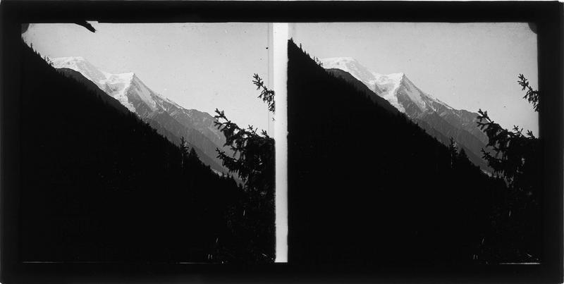 Paysage de montagne : massif du Mont-Blanc côté Chamonix