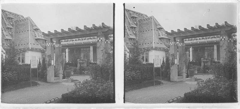 Jardin de Vacherot et Riousse, et pavillon de Mulhouse à gauche