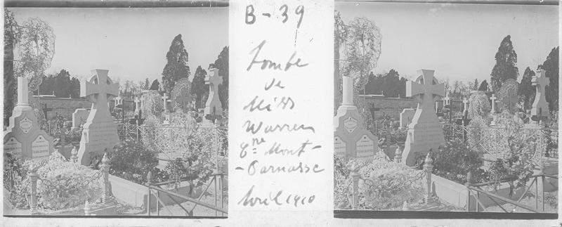 Tombe de Eveline Warren (1875-1909)