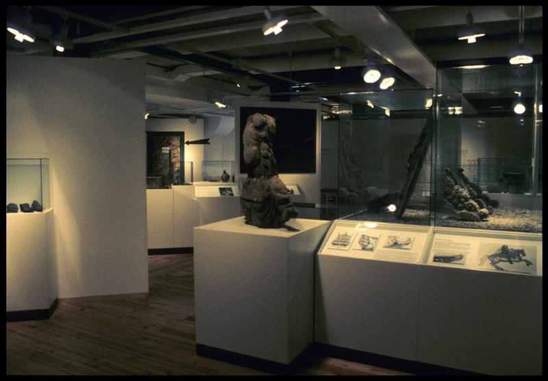 Vue de la salle d'exposition.