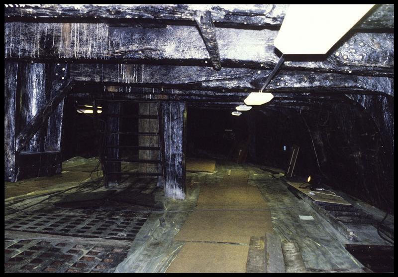 Vue de l'intérieur de la carène.