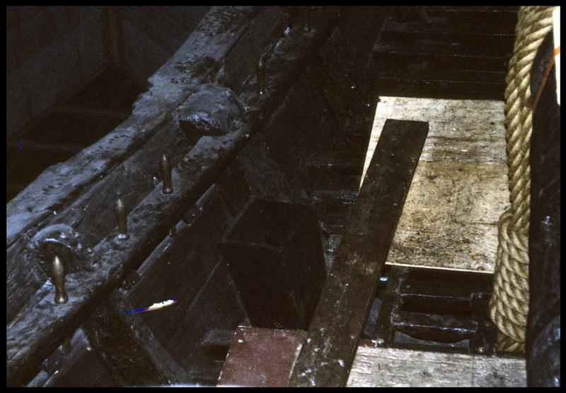 Vue de détail de l'intérieur de la carène.
