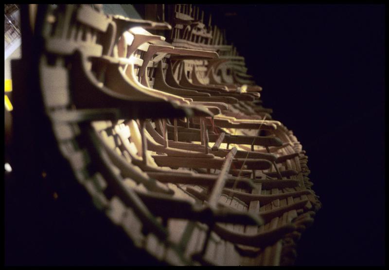 Vue de détail de la maquette de la carène.
