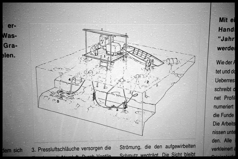 Vue d'une schéma de fouille sous-marine.