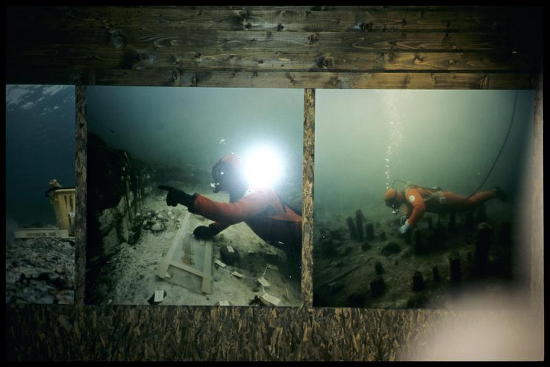 Vue de photographies de fouille lacustre.