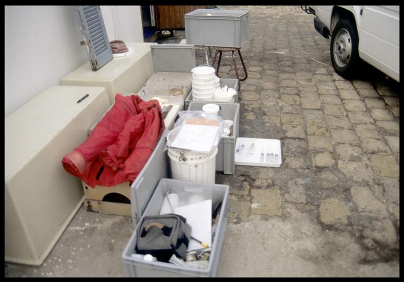 Vue du matériel et des produits de moulage (fouille S. Ximénès).