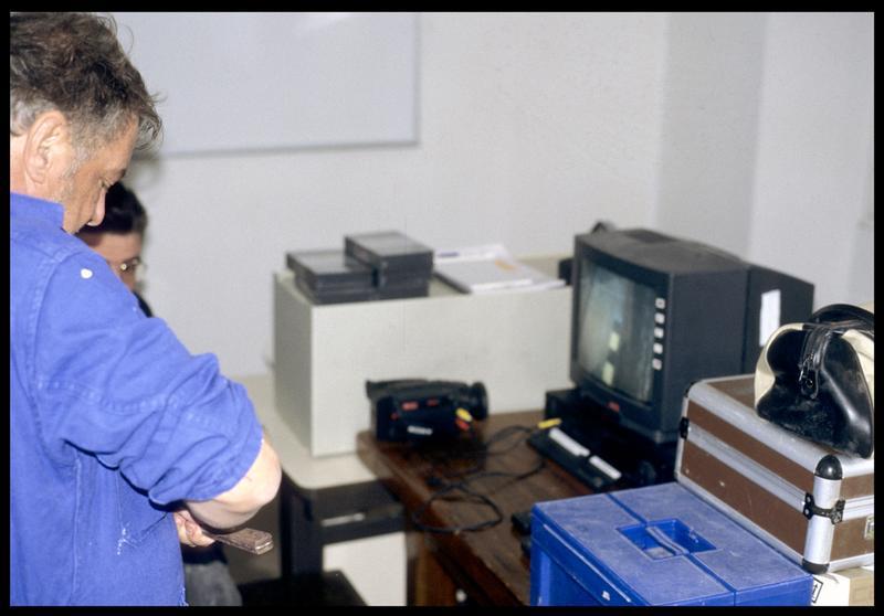 Vue du moniteur de vidéo (fouille S. Ximénès).
