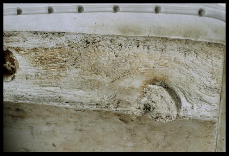 Vue de détail du moulage du prélèvement A2 (fouille E. Rieth).