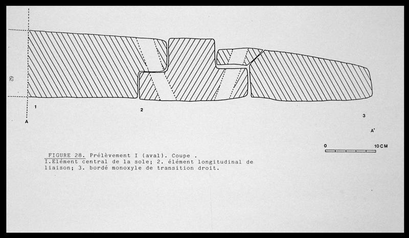 Vue du dessin de la coupe du prélèvement 1 (fouille E. Rieth).
