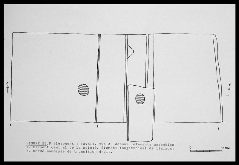 Vue du dessin du dessus du prélèvement 1 (fouille E. Rieth).