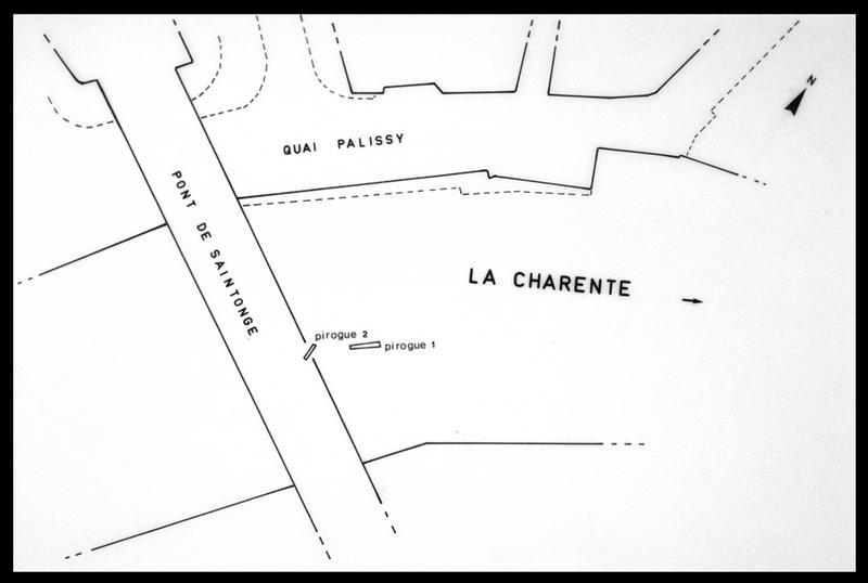 Vue de la localisation des épaves sur la carte cadastrale (fouille E. Rieth).