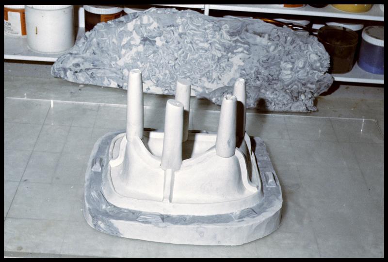 Vue du moule souple de la caisse en bois (fouille E. Rieth).
