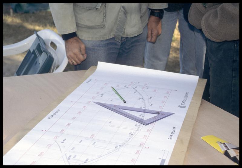 Vue du plan de l'épave (fouille E. Rieth).