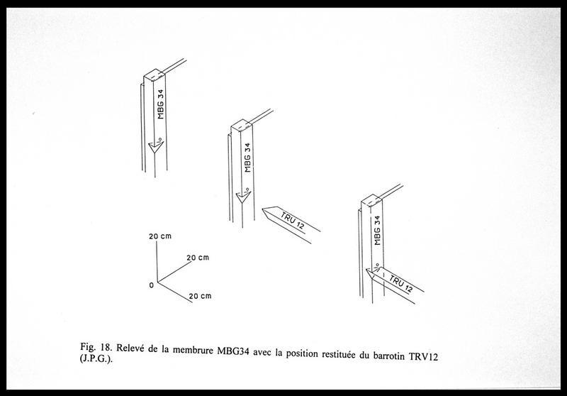 Vue du relevé de la membrure MG34 (fouille E. Rieth).