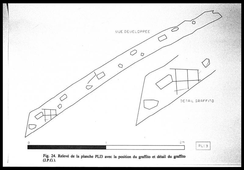 Vue du dessin du prélèvement PL13 (fouille E. Rieth).