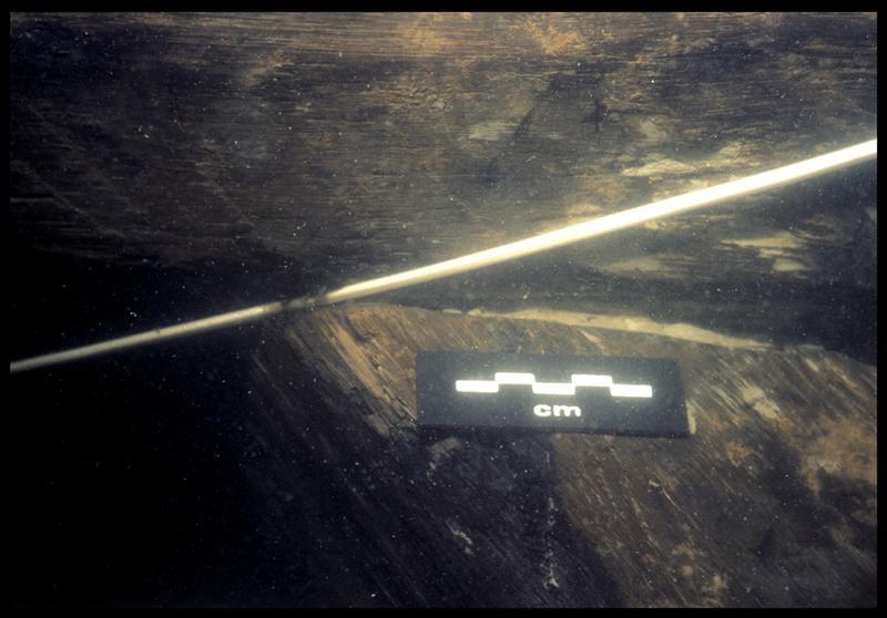 Vue sous-marine de la carène (fouille E. Rieth).