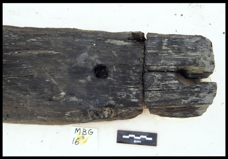 Vue de détail de la membrure MG16 (fouille E. Rieth).