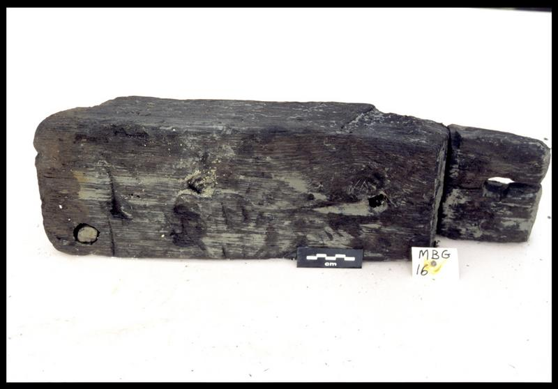 Vue de la membrure MG16 (fouille E. Rieth).