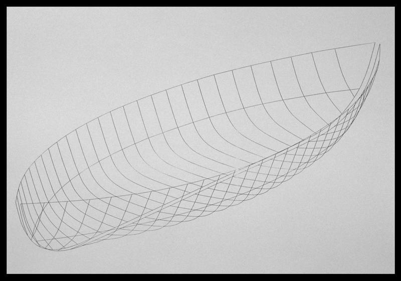 Vue de la restitution en 3D de la carène (fouille E. Rieth).