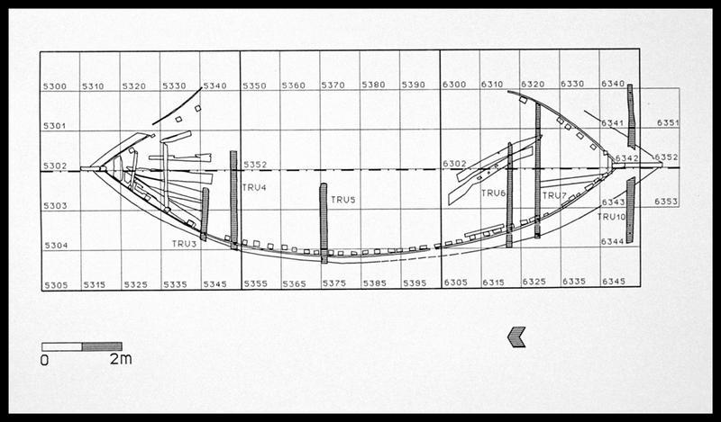Vue de la localisation des baux sur le plan général (fouille E. Rieth).