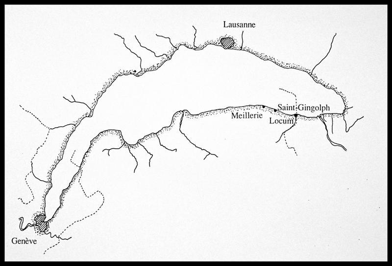 Vue de la localisation de l'épave sur le lac Léman (fouille E. Rieth).