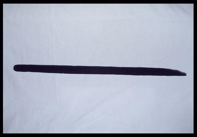 Vue d'une régle marquée de bois (fouille D. David).
