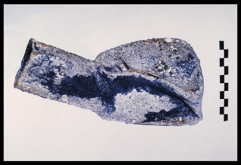 Vue d'un urinal métallique (fouille M. L'Hour/Drassm, E. Veyrat/Drassm).