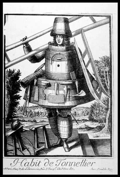 Vue du dessin de l'Habit du Tonnelier de L'Armessin (fouille M. L'Hour/Drassm, E. Veyrat/Drassm).