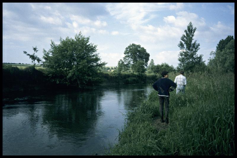 Vue des rives de l'Indre (fouille Y. Billaud/Drassm).