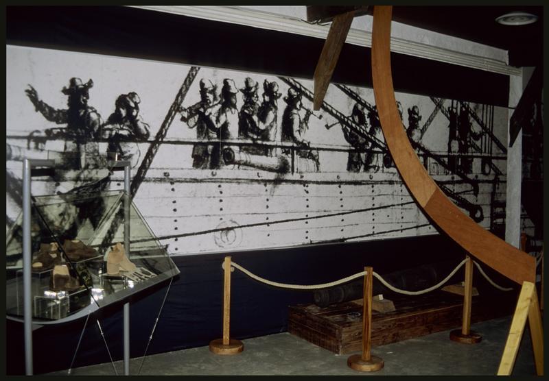 Vue d'une des salles de l'exposition.