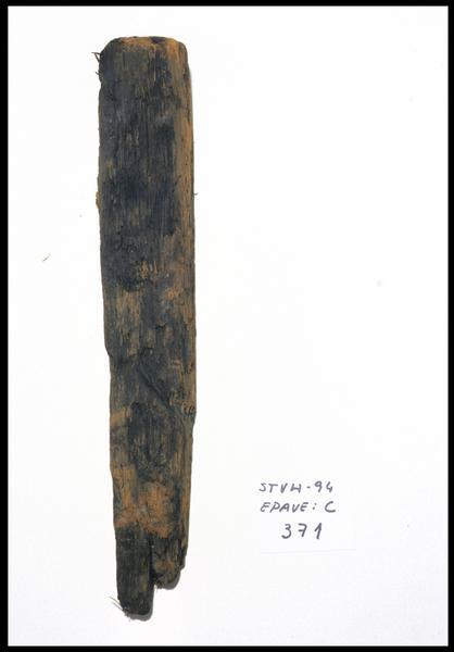Vue d'une pièce de bois (fouille M. L'Hour/Drassm, E. Veyrat/Drassm).