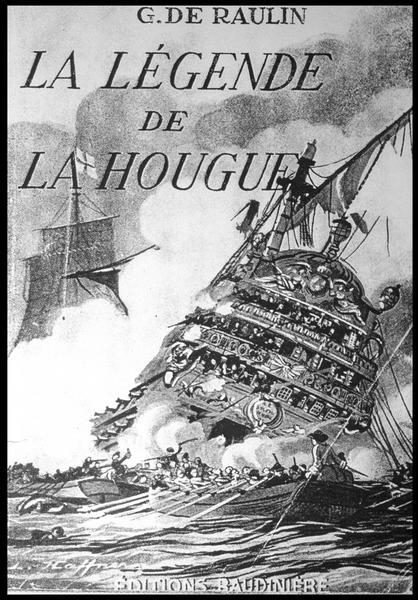 Vue de la couverture du livre de G. de Raulin (La légende de la Hougue) aux Editions Baudinière (fouille M. L'Hour/Drassm, E. Veyrat/Drassm).