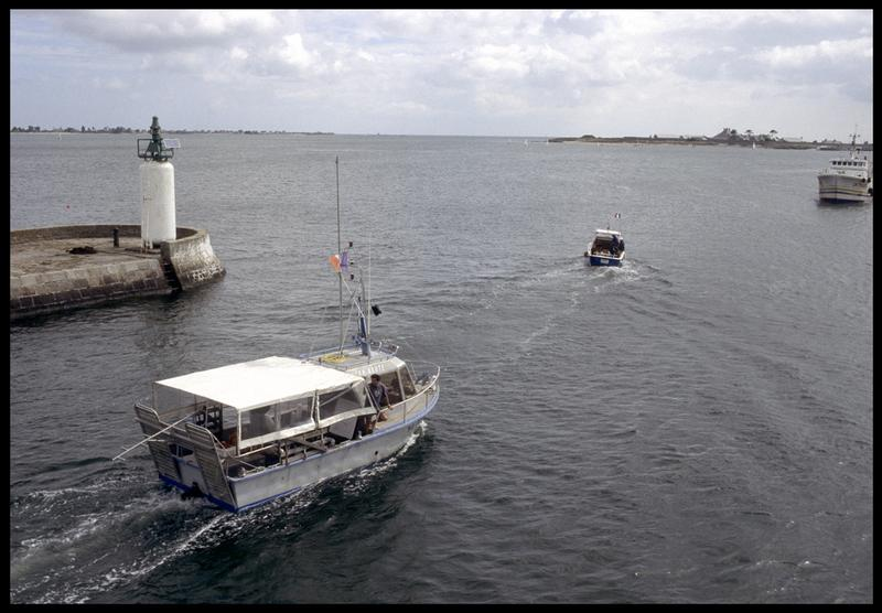 Vue de l'Afan-Naute à la sortie du port (fouille M. L'Hour/Drassm, E. Veyrat/Drassm).