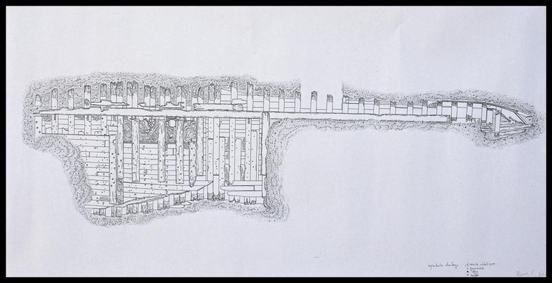Vue du plan de la carène (fouille M. L'Hour/Drassm, E. Veyrat/Drassm).