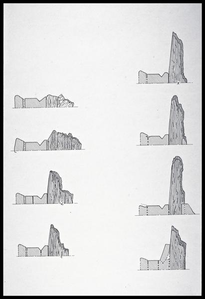 Vue du dessin de huit membrures (fouille M. L'Hour/Drassm, E. Veyrat/Drassm).