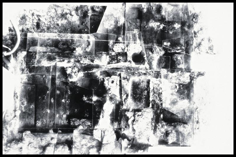 Vue du photomontage de la carène (fouille M. L'Hour/Drassm, E. Veyrat/Drassm).
