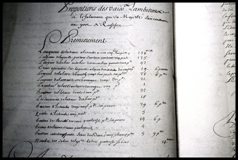 Vue du registre de l'Ambitieux (fouille M. L'Hour/Drassm, E. Veyrat/Drassm).