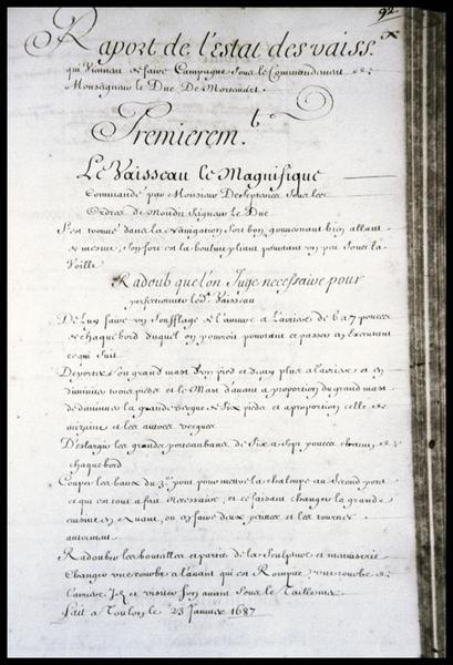 Vue du registre du Magnifique (fouille M. L'Hour/Drassm, E. Veyrat/Drassm).