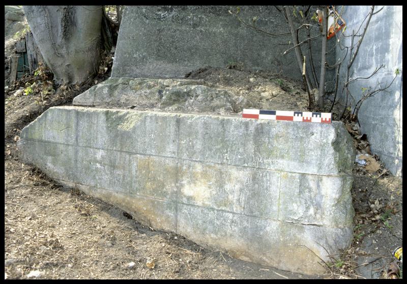 Vue de la pile du pont antérieur (fouille P. Rhomer).