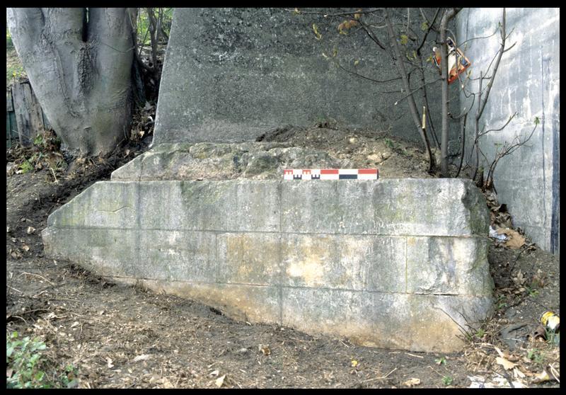 Vue de la pile de pont antérieur (fouille P. Rhomer).