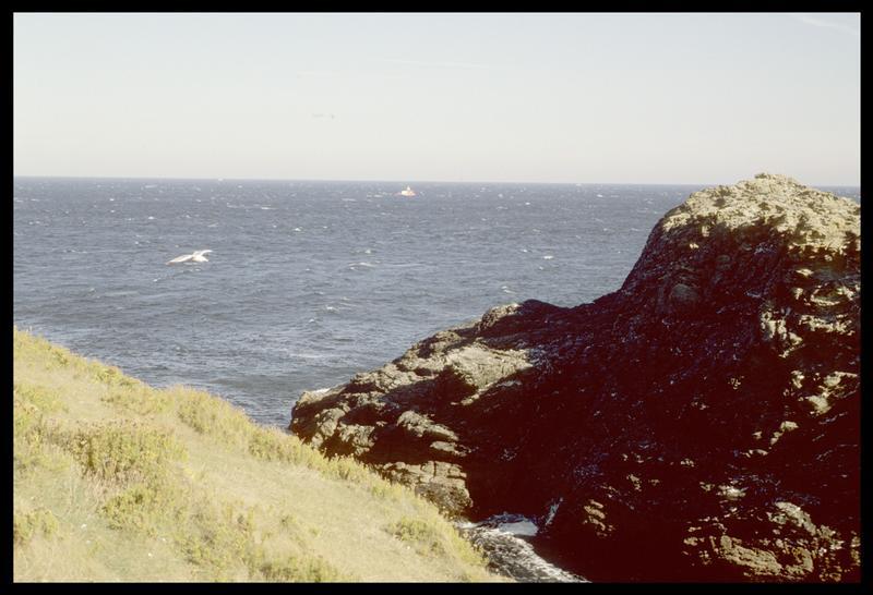 Vue de l'Hermine Bretagne depuis les côtes de Belle Ile (fouille M. L'Hour/Drassm).