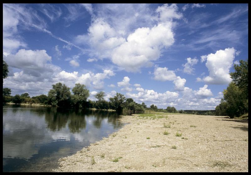 Vue des rives de la Loire (fouille CNRAS).